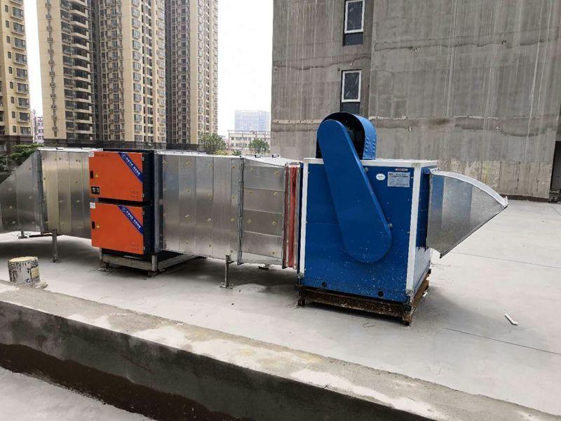 油煙凈化器高空排放安裝案例