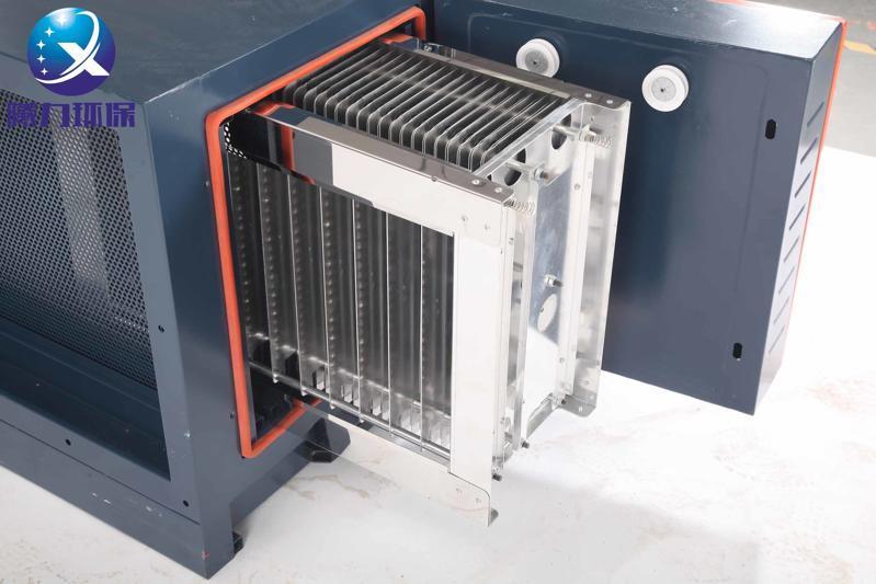 曦力饭堂油烟净化器电磁场是选用制造业内最高品质的民航铝镁合金